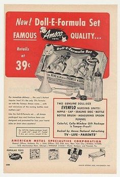 1954 -- used these bottles to feed our new kittens when the mama cat got hit out front