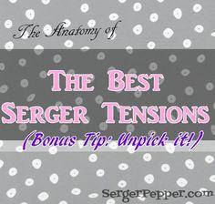 Serger Pepper - Best Serger Tension tips - title