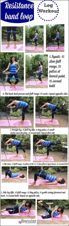 Resistance band loop leg workout