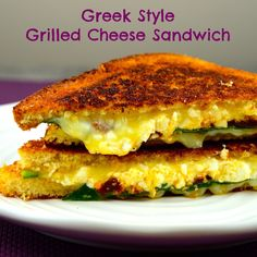 """Greek Style"" grilled cheese sandwich #grilled cheese #sandwich #kosher #vegetarian #cheese #ComfortFood #lunch #breakfast"