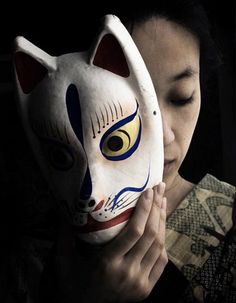 kabuki actor with mask