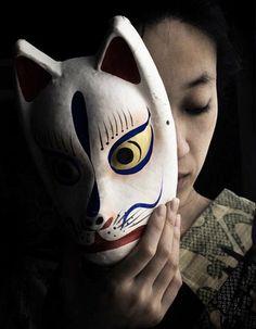 kabuki actor with mask