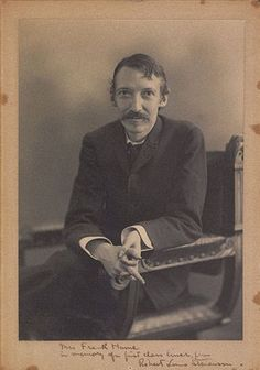 Robert Louis Stevenson. I loved to read his books in school. Taking me away to a fantasy in another world. But what I love most about him is his little poems I would rehearse in the first grade.