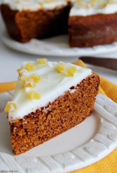 Irish Gingerbread Cake with Lemon Butter Frosting