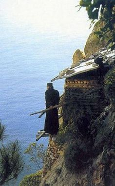 MOUNT ATHOS.HERMITS AND SPIRITUAL MEN FIND REFUGE HERE.NORTH GREECE
