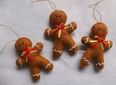 1001 Feltros: Enfeites de Natal !