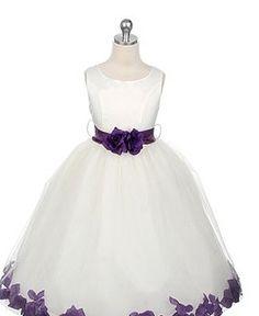 Details about NEW FLOWER GIRL ROSE BUTTERFLIES WEDDING DRESS 2 4 6 ...