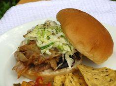 Pulled Pork Sandwiches, Creamy Coleslaw, and Summer Bean Salsa - Willow Bird Baking > Willow Bird Baking