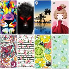 Ultra Thin Soft TPU Pattern Cover Case For Sony Xperia Z1 Z3 Compact M4 Aqua X XA Silicone Rubber Phone Cases Fundas Shell