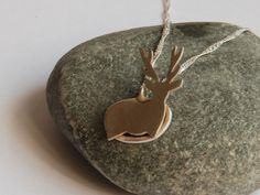 Stag in a Snow Drift Pendant