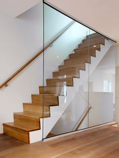 Solid wood stairs and hand raIl chrome brackets