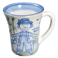 Hadley Pottery Scarecrow Flare Mug 12 oz. $23.00
