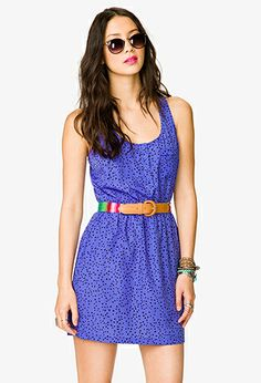 Ditsy Triangle Racerback Dress | FOREVER21 - 2027706286