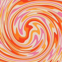 Retro Swirl Color Abstract Art Print by - X-Small Cute Backgrounds, Cute Wallpapers, Aesthetic Iphone Wallpaper, Aesthetic Wallpapers, Pattern Art, Print Patterns, Swirl Pattern, Retro Pattern, Picsart