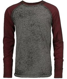 Burnout raglan t-shirt. Detailed perfectly for that added layering piece.