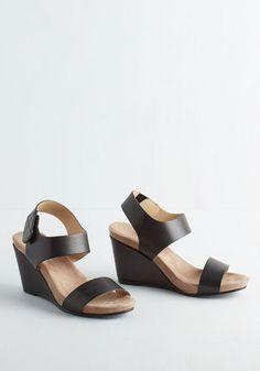 It's Haute Just a Phase Wedge in Noir   Mod Retro Vintage Sandals   ModCloth.com