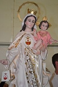 Image of Our Lady of Mercy that was venerated during the Mass.