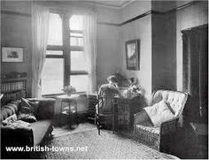 Typical students room at Girton College 1910