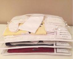 Saquinhos para acomodar de forma charmosa e prática as roupinhas do seu bebê na mala da maternidade. Kit com 3 saquinhos feitos em filó, acabamento de viés, com espaço identificador. Detalhes em pérolas.  Tamanho (LxA cm): único 45x30  Somente na cor branca  Postagem em até 5 dias úteis após a co...