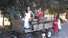 Our tractor drawn wagon!