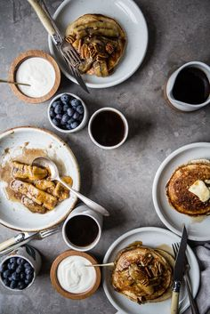 Banana Pancakes with Caramelized Bananas and Toasted Pecans | The Modern Proper