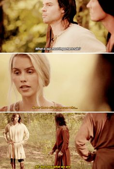 Elijah: What is our most important rule? Rebekah: Never leave alive someone who... All: ...has seen what we are. #TheOriginals 3x01