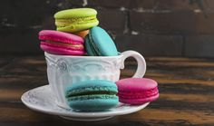 Macaroons, Tiramisu, Raspberry, Mugs, Fruit, Tableware, Food, Macaroni, Dinnerware