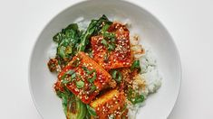 Braised Tofu Recipe, Korean Side Dishes, Main Dishes, Cooking Tofu, Sauteed Greens, Sneak Attack, Extra Firm Tofu, Tofu Recipes, Vegetable Recipes
