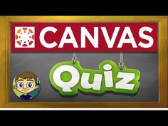 Canvas LMS Tutorial: Canvas Quizzes and Quiz Banks Online Classroom, Science Classroom, Classroom Ideas, Math Quizzes, Math Math, Math Fractions, Math Games, Canvas Learning Management System, Classroom Management