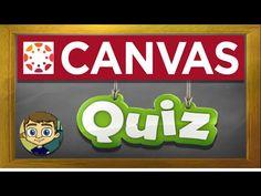 Canvas LMS Tutorial: Canvas Quizzes and Quiz Banks Online Classroom, Math Classroom, Math Math, Math Fractions, Google Classroom, Math Games, Classroom Ideas, Teaching Technology, Teaching Science