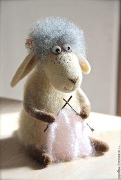 Купить Овечка Циля - валяние из шерсти, валяная игрушка, овечка игрушка, овечка из шерсти