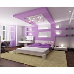 cool-purple-bedroom-ceiling-decor-with-lighting-accessories-from-gypsum.png (655×533) found on Polyvore