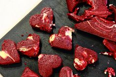 { Little Accidents in the Kitchen }: Red Velvet Cheesecake Swirl Heart Brownies