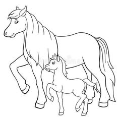 Horses And Foals Coloring Pages . Read moreHorses And Foals Coloring Pages Space Coloring Pages, Farm Animal Coloring Pages, House Colouring Pages, Pumpkin Coloring Pages, Coloring Pages For Boys, Adult Coloring, Coloring Books, Cute Halloween Coloring Pages, Umbrella Coloring Page