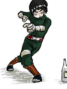 Rock Lee doing the drunken fist