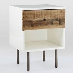 To finish off your new bedside table you can use reclaimed wood or pine for the drawer front. I discovered a way to make ordinary pine look like the reclaimed timber. The trick is to use Woodoc Gel Stain and some common household products to age new timber and make it look authentic.