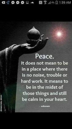 Peace, heart, calm, trouble, nose, midst