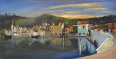 'TRAU' (Trogir)   Tivadar Kosztka #Csontvary (Hungarian painter) Painting Apparently Found In after 113 years Hungary. view on Fb https://www.facebook.com/BudapestPocketGuide #budapest #painting