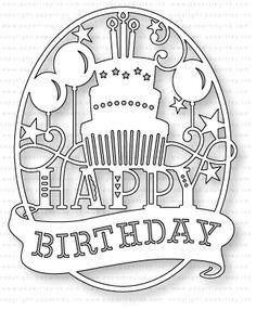 Papertrey Ink - Paper Clippings: Birthday Die: Papertrey Ink Clear Stamps Dies Paper Ink Kits Ribbon