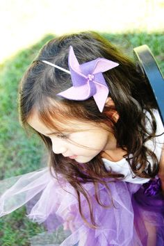 Headband Pinwheel Carnival Wedding Purple Lavender Birthday Party Flower Girls Circus Accessories Hair Clip