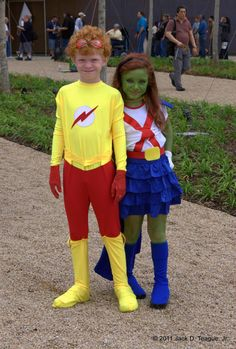 so cute, KidFlash and Ms. Martian