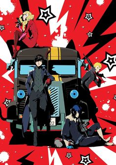 Persona 5 The Animation: The Day Breakers DVD/Blu-ray cover art by Shigenori Soejima.