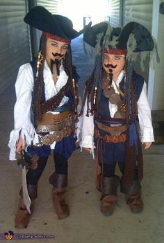 Jack Sparrow - The Real & The Imposter <3 2012 Halloween Costume Contest yay we made it on the costume contest page!!