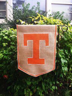 Tennessee Vols Burlap Garden Flag Orange by ModernRusticGirl, $20.00