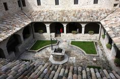 View of the cloister from above, 15th century. San Damiano Convent, Assisi, Italy.