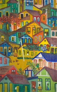 Lia Mittarakis. Favela (1972). Óleo sobre tela. 61x38 cm