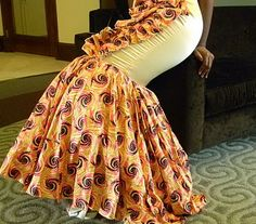 african inspired gowns | the dress is made of made of woodin ankara crepe back satin organza ...