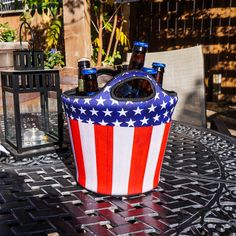 American Flag Patriotic Insulated Neoprene Beverage Bucket only available at www.BREKX.com