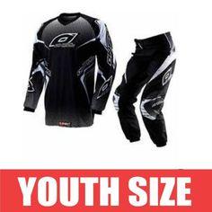 fdc5282d4214f Oneal Element Youth Pant Jersey 12 14 XL Blk Wht Dirt Bike ATV BMX Kids Gear