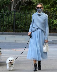 Look Olivia Palermo, Olivia Palermo Street Style, Olivia Palermo Lookbook, Olivia Palermo Winter Style, Monochrome Outfit, Star Fashion, Style Icons, Style Me, Tweed